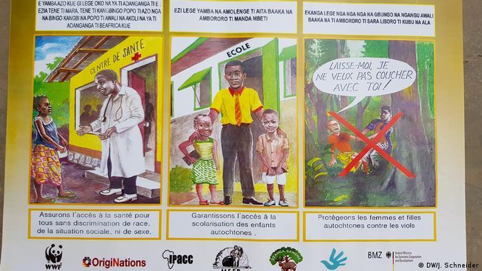 Ein Poster zeigt, welche Rechte die BaAka haben