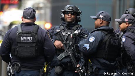 Foto de policías de Nueva York