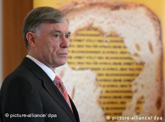 Koehler at the presentation of Dein Tag für Afrika at Schloss Bellevue in May 2009