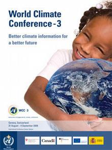 Poster for WCC 3 showing a child hugging the earth
