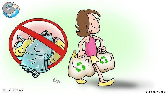Plakat kampanje za korištenje platnenih, a ne plastičnih vrećica