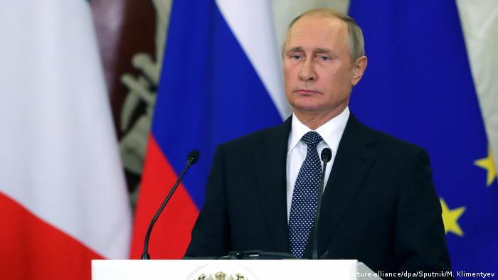 Russland Präsident Wladimir Putin trifft italienischen Ministerpräsidenten Giuseppe Conte