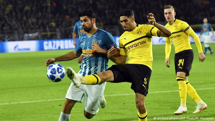 Champions League - Borussia Dortmund v Atletico Madrid | Achraf Hakimi (picture-alliance/AP Photo/M. Meissner)