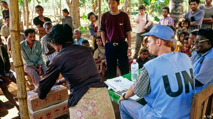 Ost Timor UN Freiwillige Wahlhelfer
