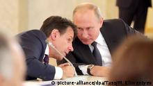 Russland Conte bei Putin