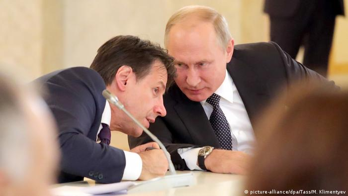 Джузеппе Конте и Владимир Путин
