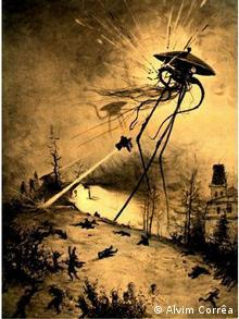 Ilustração da edição francesa de Guerra dos Mundos, de H.G. Wells, 1906