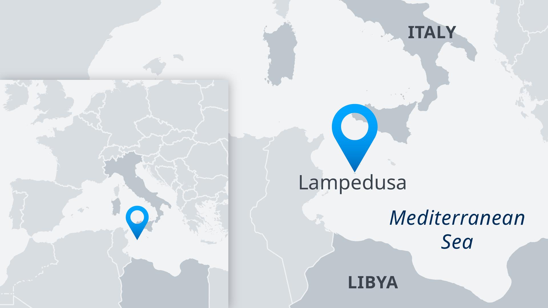 Karte Lampedusa EN