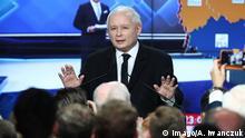 21.10.2018 Local elections in Poland Jaroslaw Kaczynski Law and Justice Election Evening on October 21, 2018 in Warsaw, Poland. EN_01345367_0054 PUBLICATIONxINxGERxSUIxAUTxONLY