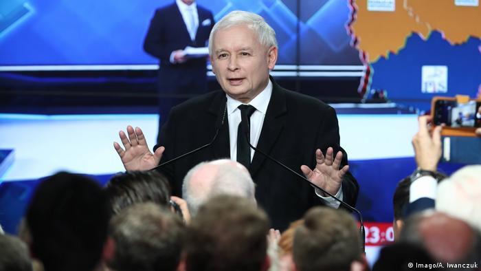 Polen Warschau Lokawahlen Jaroslaw Kaczynski
