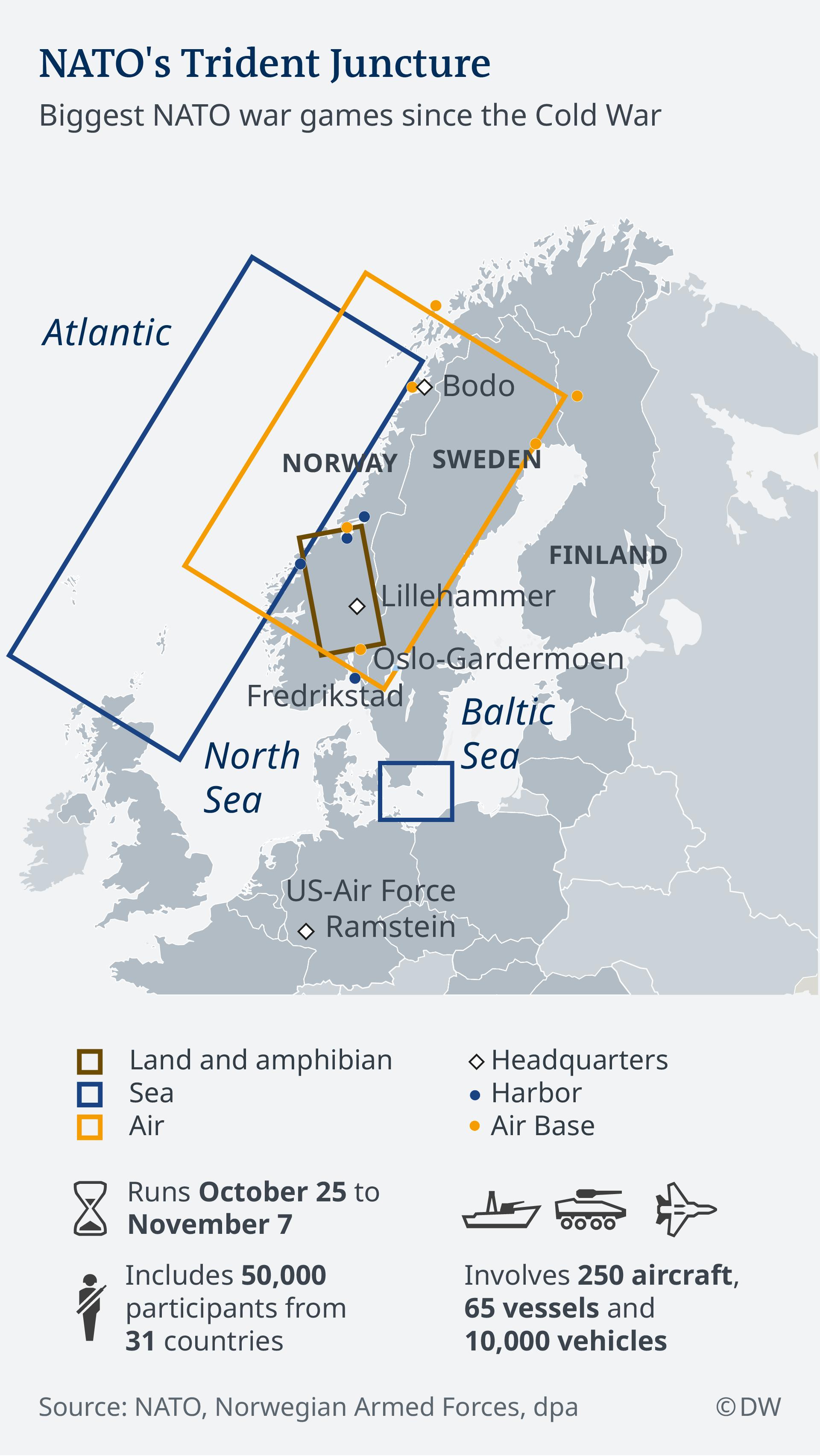 Infografik NATO´s Trident Juncture -EN