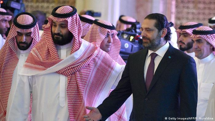 Saudi-Arabien Kronprinz Mohammed bin Salman Premierminister Hariri Libanon (Getty Images/AFP/F. Nureldine)