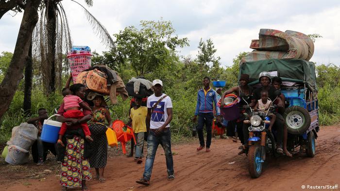 Congoleses que partiram de Angola a pé em 2018