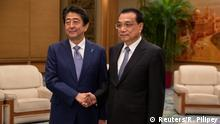 Peking Treffen Li Keqiang und Shinzo Abe