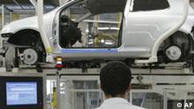 Deutschland Autoindustrie Stellen Autoproduktion bei VW
