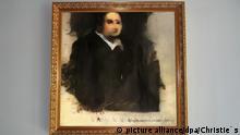 HANDOUT - 24.10.2018, ---: Der verschwommene Druck «Edmond de Belamy» zeigt einen Mann in dunkler Kutte mit weißem Kragen, der an einen französischen Geistlichen im 17. oder 18. Jahrhundert erinnert. Das Porträt ist das erste Gemälde einer künstlichen Intelligenz (KI), das bei einem großen Auktionshaus unter den Hammer kommt - ohne klare Regeln darüber, wer der Autor ist und wer die Rechte besitzt. (zu dpa Kunst per Algorithmus:Christie's versteigert erstmals KI-Gemälde vom 25.10.2018) Foto: Christie's/dpa - ACHTUNG: Nur zur redaktionellen Verwendung im Zusammenhang mit der Berichterstattung über die Auktion. Das Foto darf nicht verändert und nur im vollen Ausschnitt verwendet werden. Keine Archivierung. Nur mit vollständiger Nennung des vorstehenden Credits +++ dpa-Bildfunk +++  