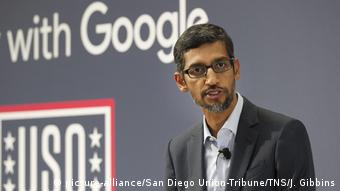 Google CEO Sundar Pichai (picture-alliance/San Diego Union-Tribune/TNS/J. Gibbins)