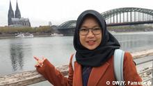 Köln Igib Prasetyaningsari aus Bogor, Studentin aus Indonesien