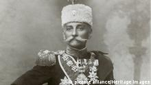 King Peter I of Serbia, c1903-c1918(?). Peter I (1844-1921) was King of Serbia from 1903 until 1918. From the end of the First World War until his death he ruled the Kingdom of the Serbs, Croats and Slovenes, which later became known as Yugoslavia. (The Print Collector / Heritage Images)  