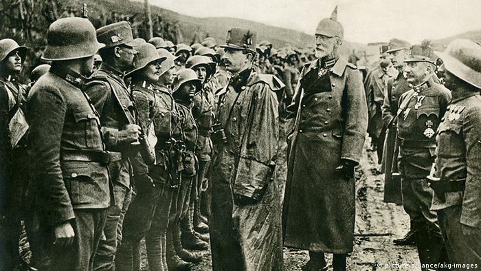 1. Weltkrieg Kaiser Karl bei Truppen in Galizien
