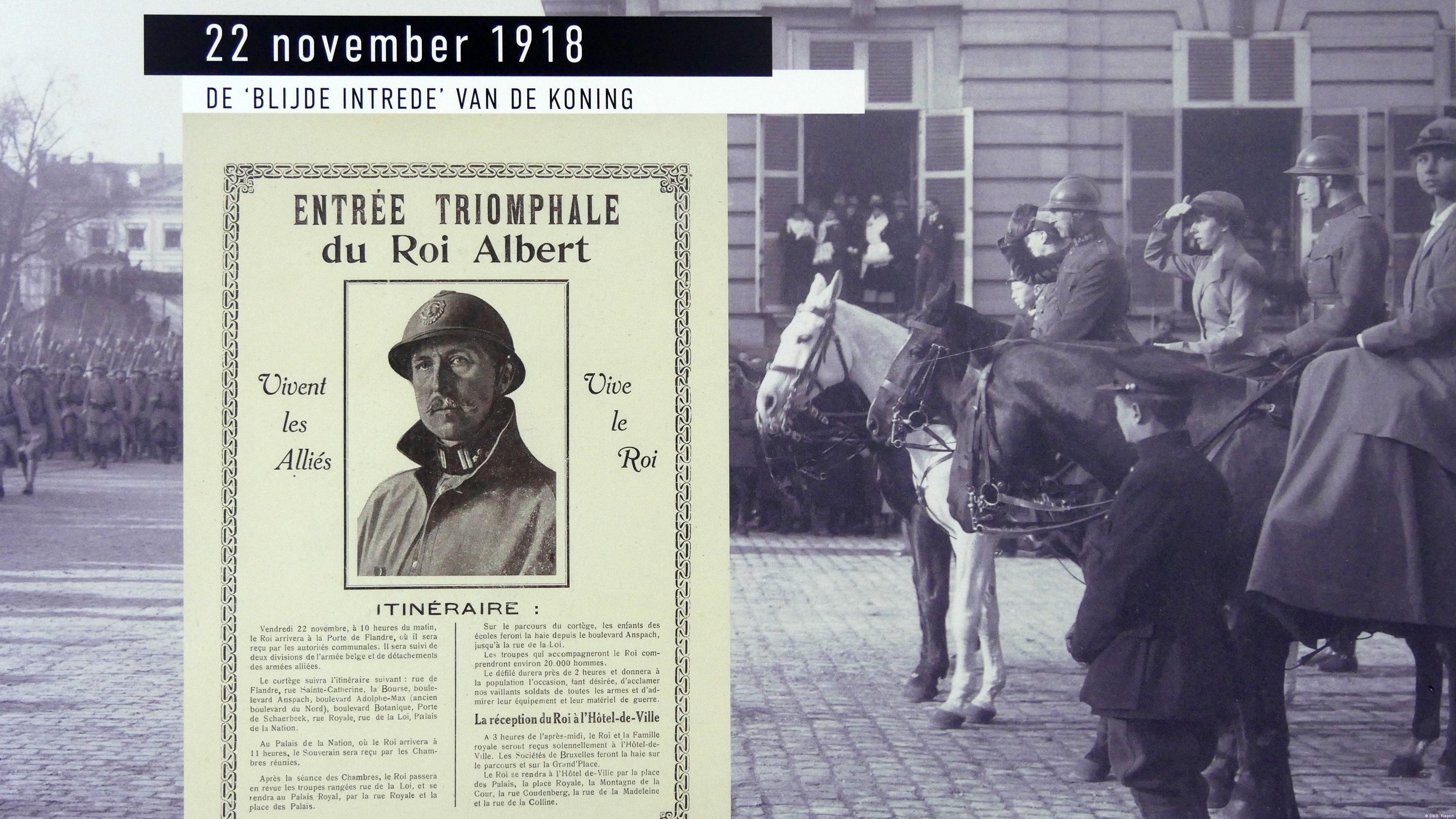 King Albert I on horseback