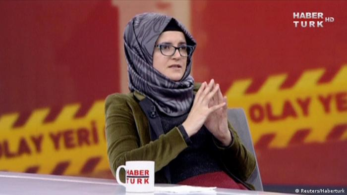 Hatice Cengiz verlobte des ermordeten Jamal Khashoggi im TV Interview (Reuters/Haberturk)