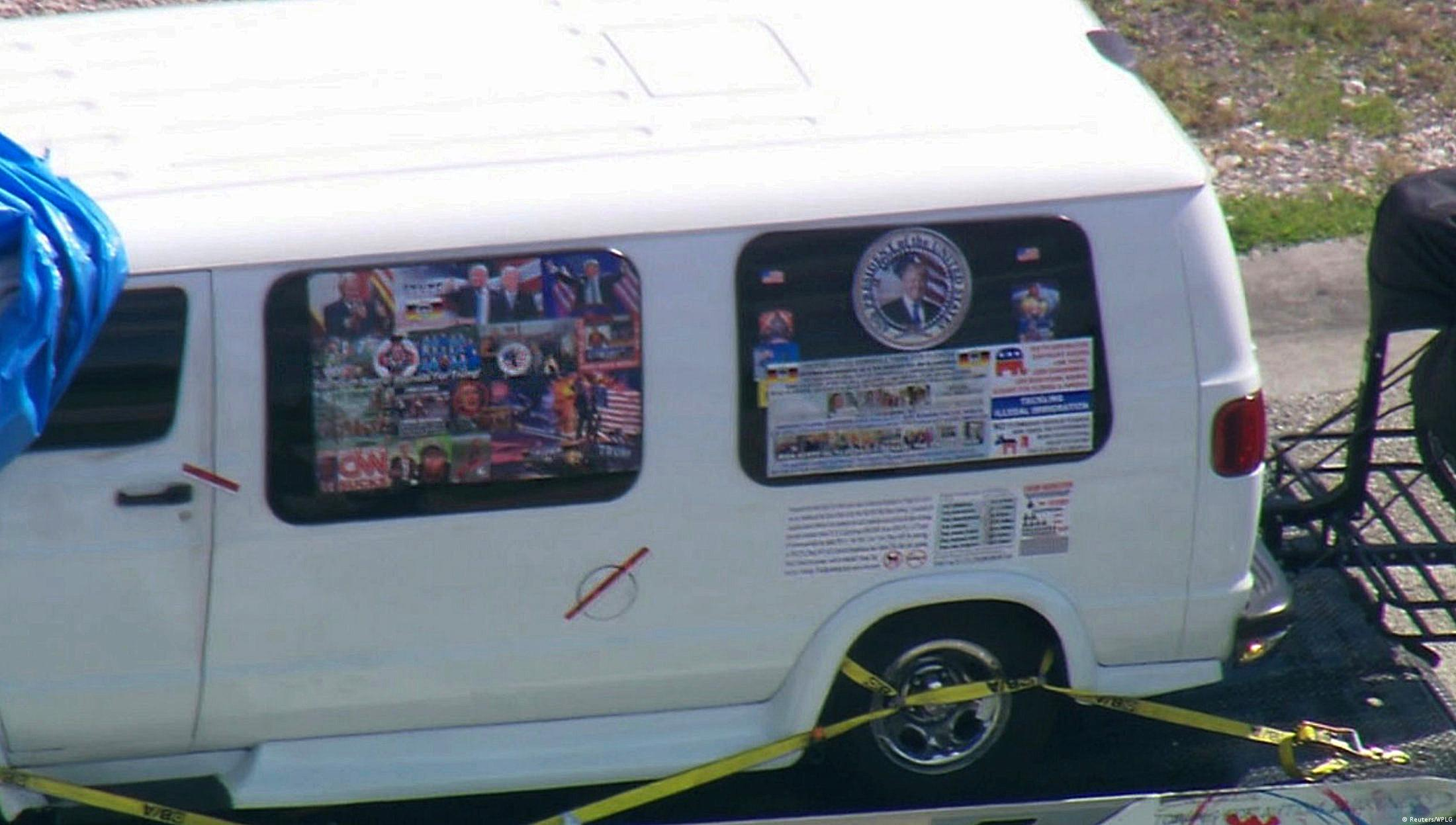 A van thought to belong to the suspect being impounded in Florida(Reuters/WPLG)