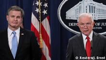 USA - Pressekonferenz mit Jeff Sessions und FBI Direktor Christopher Wray