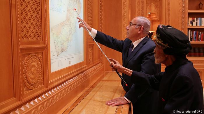 Oman Benjamin Netanjahu und Sultan Qabus