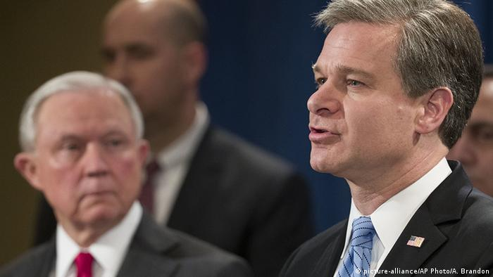 FBI Director Christopher Wray (picture-alliance/AP Photo/A. Brandon)