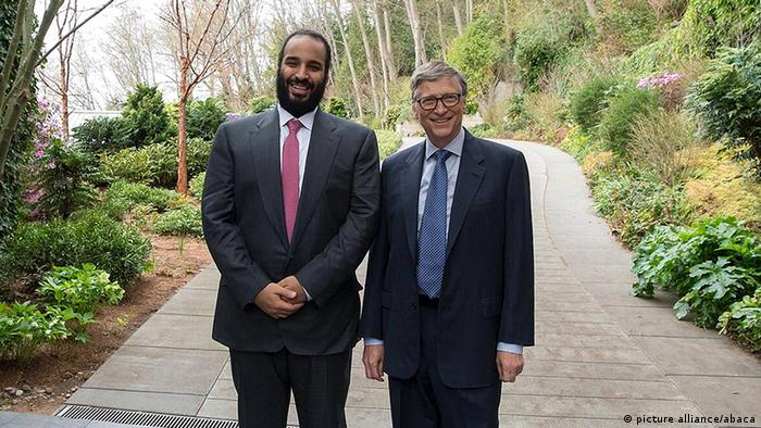 Mohammed bin Salman and Bill Gates (picture alliance/abaca)