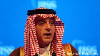 Bahrain Außenminister Adel al-Dschubeir bei einer Sicherheitskonferenz in Manama