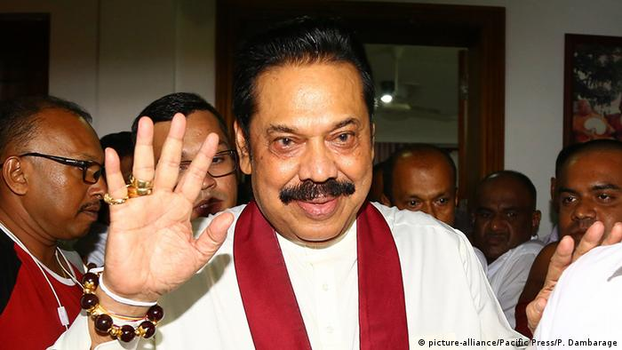 Mahinda Rajapaksa (picture-alliance/Pacific Press/P. Dambarage)