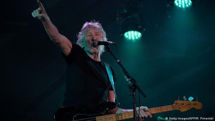 Roger Waters en su concierto por Latinoamérica.