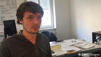 Mark Gärtner of the Saxon Refugee Council (DW/V. Esipov)