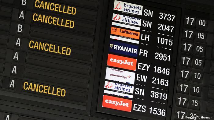 Belgien Flughafen - Flugausfälle durch Arbeiterstreik