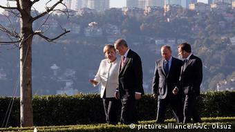 Türkei Vierer-Gipfeltreffen in Istanbul l Thema Syrien