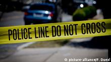 USA Polizeieinsatz - Absperrband - Symbol