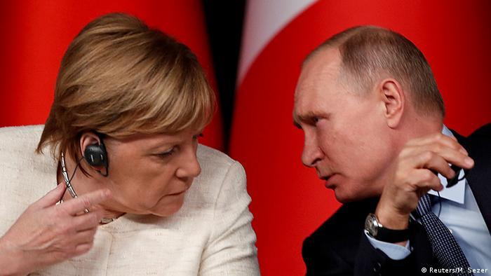 Анґела Меркель і Володимир Путін (архівне фото)