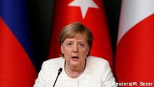 Türkei Vierer-Gipfeltreffen in Istanbul Merkel