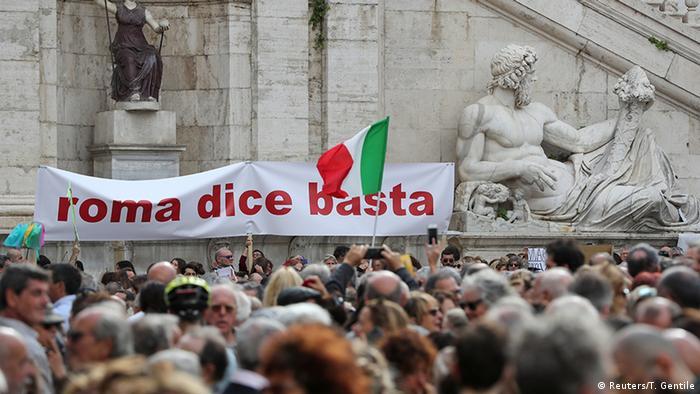 Protestors in Rome