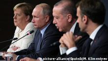 Türkei Gipfeltreffen in Istanbul mit Merkel, Putin, Erdogan und Macron