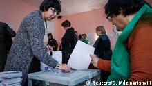 28.10.2018 People vote at a polling station during the presidential election in Tbilisi, Georgia October 28, 2018. REUTERS/David Mdzinarishvili
