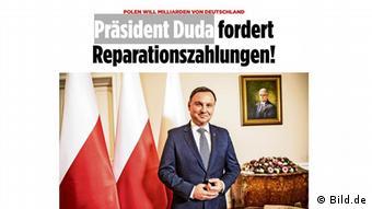 Screenshot Bildzeitung Polen Präsident Andrzej Duda (Bild.de)
