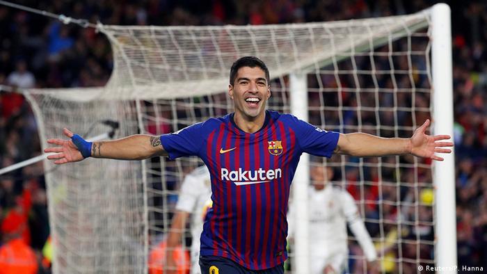 Spanien Barcelona vs Real madrid Jubel Suarez (Reuters/P. Hanna)