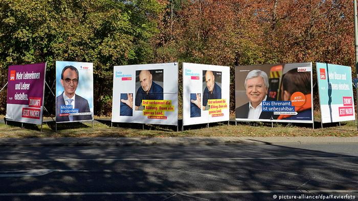 Landtagswahl in Hessen 2018 - Wahlplakate (picture-alliance/dpa/Revierfoto)