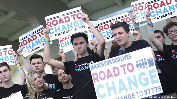 Survivors of the Parkland, Florida shooting speak against gun violence (picture-alliance/E.Rua)