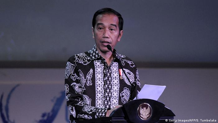 Indonesien Präsident Joko Widodo Our Ocean Conference in Bali (Getty Images/AFP/S. Tumbelaka)