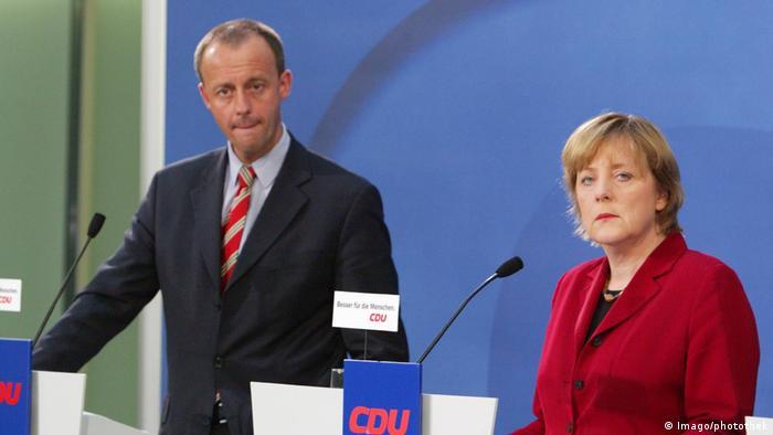 Angela Merkel und Friedrich Merz (Imago/photothek)