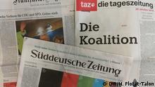 Deutsche Zeitungen nach der Wahl in Hessen